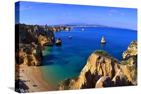 Praia Da Dona Ana, Algarve, Portugal-Hans Peter Merten-Stretched Canvas Print
