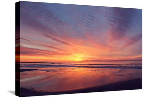East Beach Sunrise-Zachary Turner Photography-Stretched Canvas Print