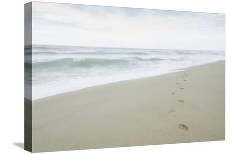 Footprints on Beach, Nantucket-Nine OK-Stretched Canvas Print