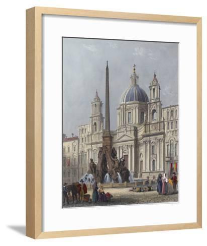 Rome, S'Agnese C1840-G B Moore-Framed Art Print