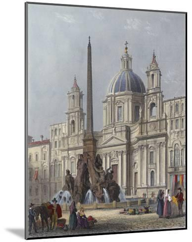 Rome, S'Agnese C1840-G B Moore-Mounted Giclee Print