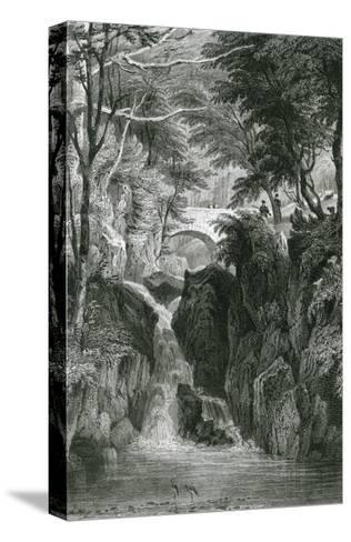 Rydal Falls, Lake District-G Pickering-Stretched Canvas Print