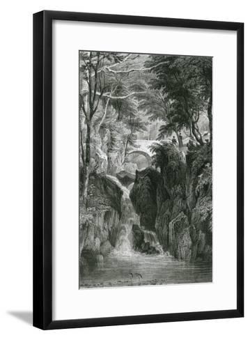Rydal Falls, Lake District-G Pickering-Framed Art Print
