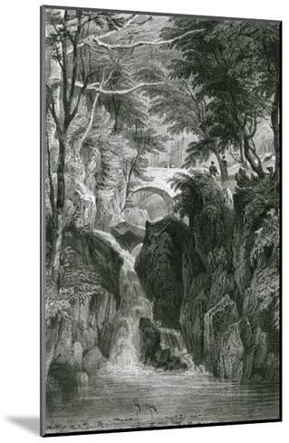 Rydal Falls, Lake District-G Pickering-Mounted Giclee Print