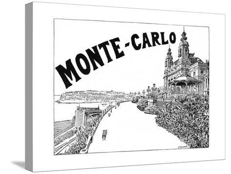 Monte Carlo Advert-G Renault-Stretched Canvas Print