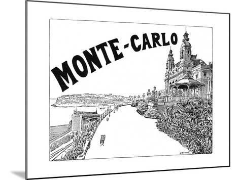 Monte Carlo Advert-G Renault-Mounted Giclee Print
