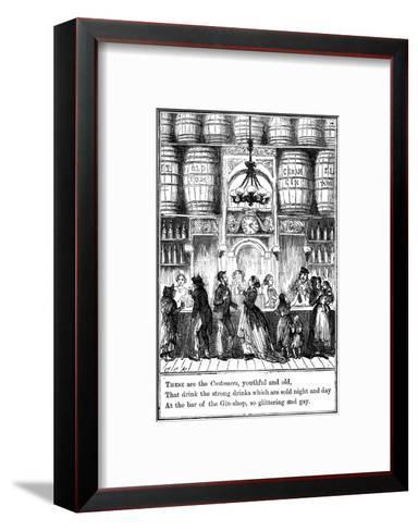 Customers from the Gin-Shop by Cruikshank-George Cruikshank-Framed Art Print