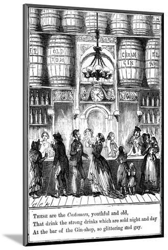 Customers from the Gin-Shop by Cruikshank-George Cruikshank-Mounted Giclee Print