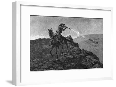 Outlaw in the American West-Frederick Remington-Framed Art Print