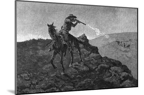 Outlaw in the American West-Frederick Remington-Mounted Giclee Print