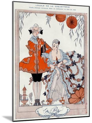 The School of Coquetry!-Georges Barbier-Mounted Giclee Print