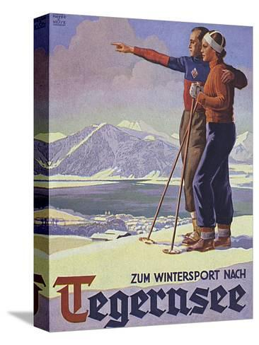 German Ski Poster-Harry Mayer-Stretched Canvas Print