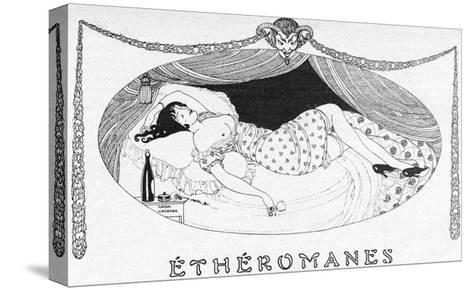 A Comatose Etheromane-Gerda Wegener-Stretched Canvas Print