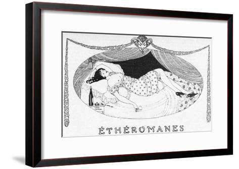 A Comatose Etheromane-Gerda Wegener-Framed Art Print