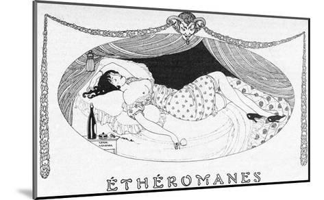 A Comatose Etheromane-Gerda Wegener-Mounted Giclee Print