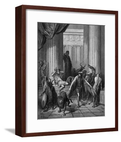 Circa Turning Men into Beasts-Gustave Dor?-Framed Art Print