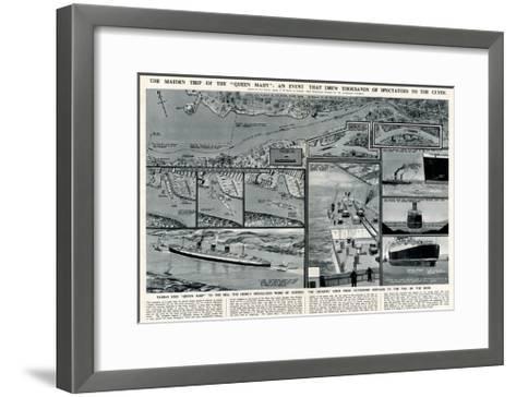 Queen Mary' Ocean Liner, Journey Down the Clyde-George Horace Davis-Framed Art Print