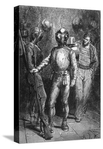 20000 Leagues under the Sea, Jules Verne-Hildebrand Jules Verne-Stretched Canvas Print