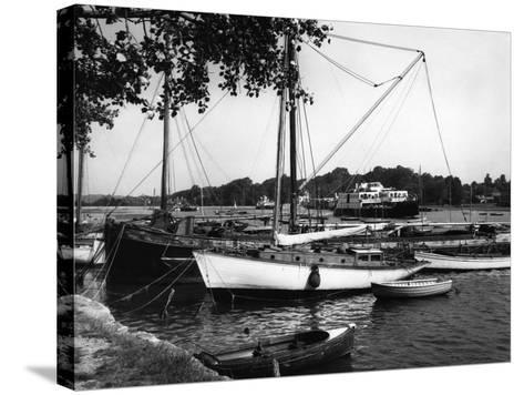Lymington Harbour-J. Chettlburgh-Stretched Canvas Print