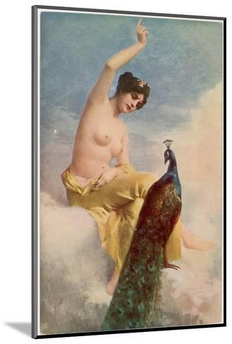 Juno and the Peacock-Jehanne Paris-Mounted Giclee Print