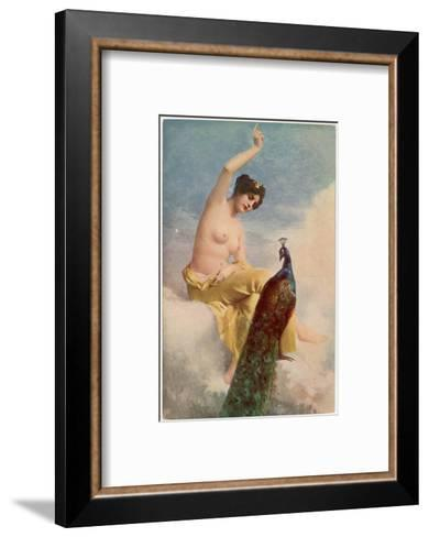 Juno and the Peacock-Jehanne Paris-Framed Art Print
