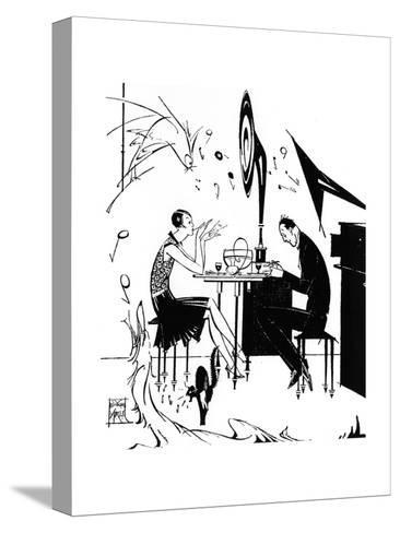 Jazz Music While You Dine, 1929-Joyce Mercer-Stretched Canvas Print