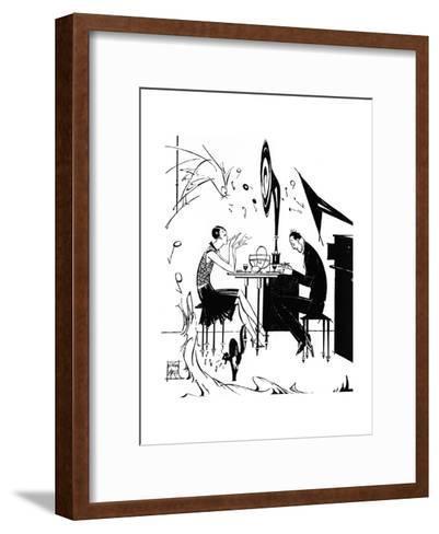 Jazz Music While You Dine, 1929-Joyce Mercer-Framed Art Print