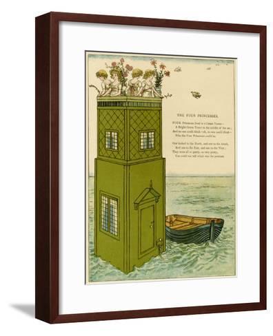 Illustration, the Four Princesses-Kate Greenaway-Framed Art Print