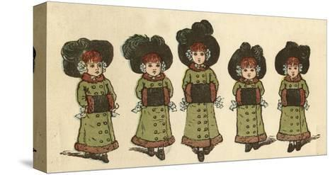 Cover Design, the Little Folks Painting Book, Greenaway-Kate Greenaway-Stretched Canvas Print