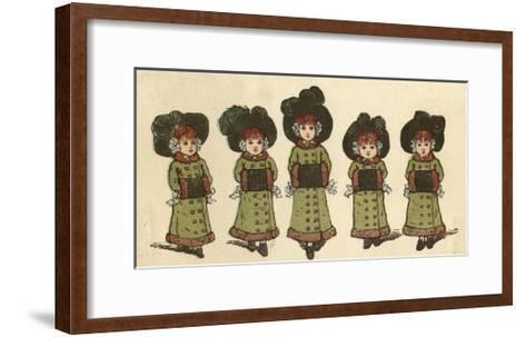 Cover Design, the Little Folks Painting Book, Greenaway-Kate Greenaway-Framed Art Print