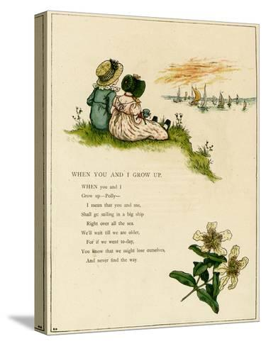 When You and I Grow Up-Kate Greenaway-Stretched Canvas Print
