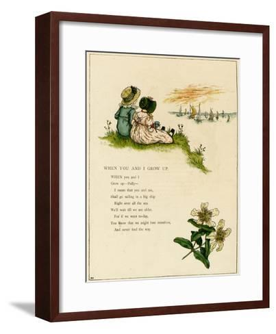 When You and I Grow Up-Kate Greenaway-Framed Art Print