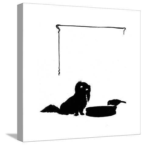 Koko the Pekinese Dog with Jack Sparrow-Mary Baker-Stretched Canvas Print