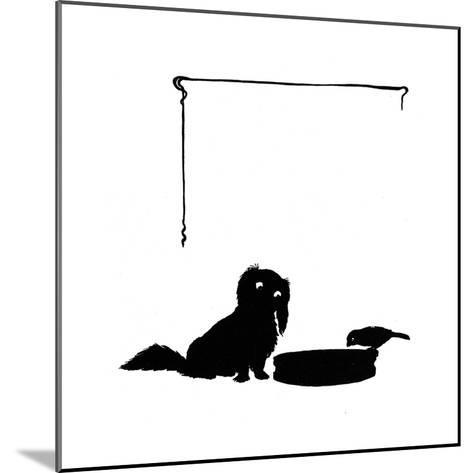 Koko the Pekinese Dog with Jack Sparrow-Mary Baker-Mounted Giclee Print