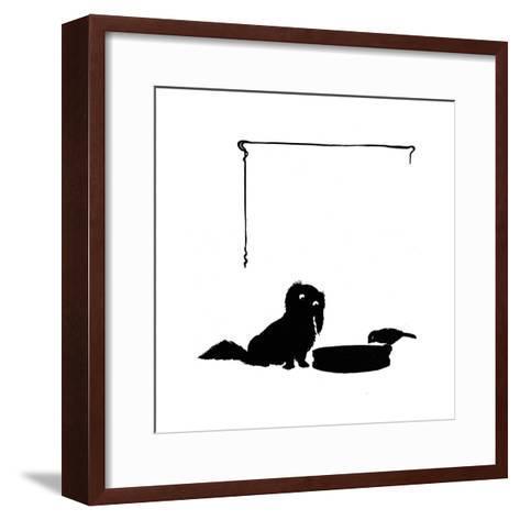 Koko the Pekinese Dog with Jack Sparrow-Mary Baker-Framed Art Print