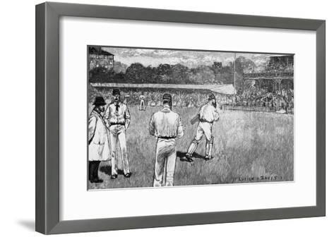 Cricket Match, Mcc V Australia 1884-Lucien Davis-Framed Art Print