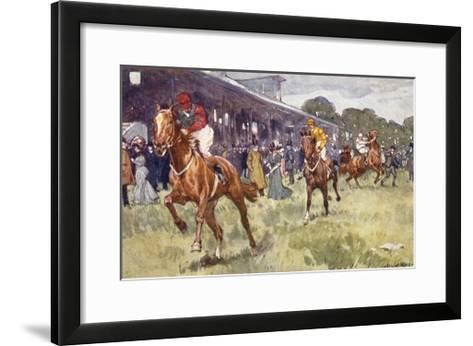 Horse Race, Ludwic Koch-Ludwic Koch-Framed Art Print