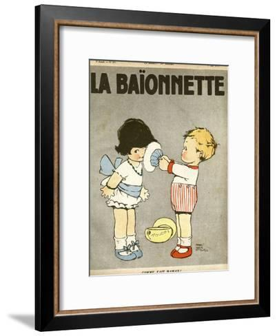 Powdering Face Like Mummy-Mabel Lucie Attwell-Framed Art Print