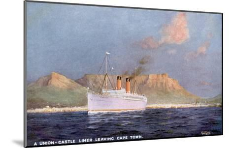 Ship Leaves Capetown-Martin Russell-Mounted Giclee Print