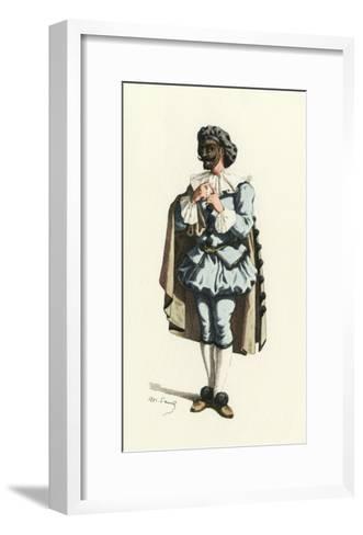 Fren. Theatre, Marc-Aurel-Maurice Sand-Framed Art Print