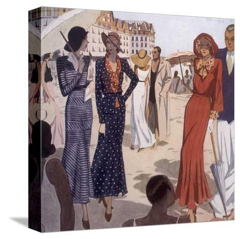 France, La Baule 1931-Nicole Groult-Stretched Canvas Print