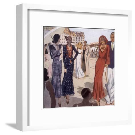 France, La Baule 1931-Nicole Groult-Framed Art Print