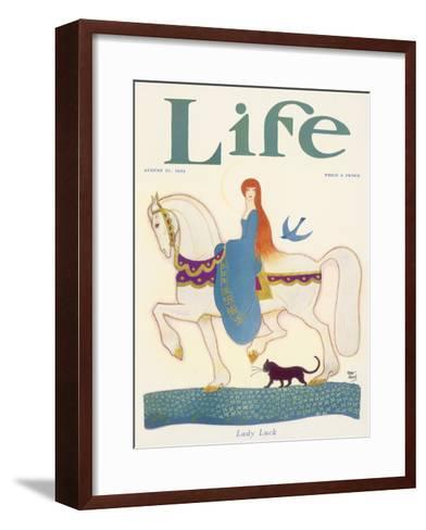 Life, Lady Luck 1924-Rea Irvin-Framed Art Print