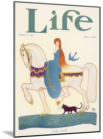 Life, Lady Luck 1924-Rea Irvin-Mounted Giclee Print