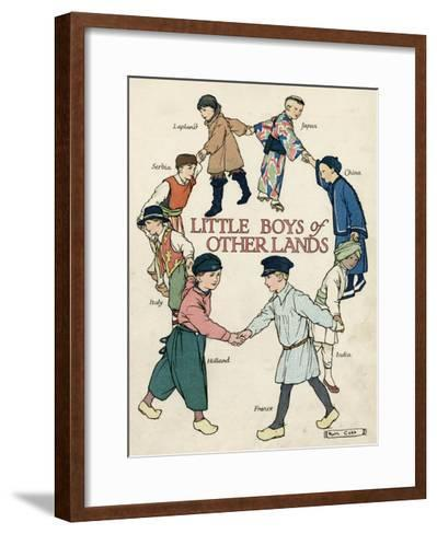 Little Boys of Other Lands in their Native Costumes-Ruth Cobb-Framed Art Print