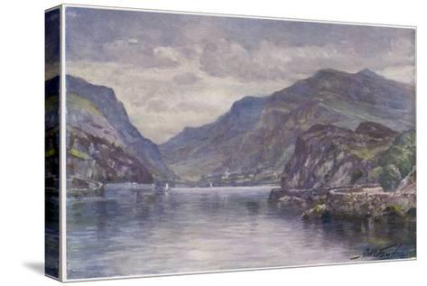Snowdon Llanberis Lake-Robert Fowler-Stretched Canvas Print