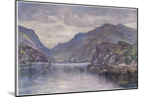 Snowdon Llanberis Lake-Robert Fowler-Mounted Giclee Print