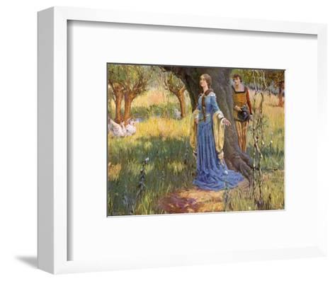 Medieval Couple, Mccaig-Robert McCaig-Framed Art Print