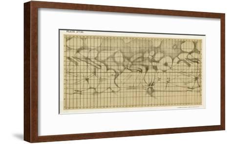 Schiaparelli's Map of the Planet Mars-Sir Robert Ball-Framed Art Print