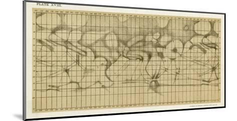 Schiaparelli's Map of the Planet Mars-Sir Robert Ball-Mounted Giclee Print